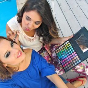 TUTORIAL: Make Azul – Fê La Salye maquiando FêMarley