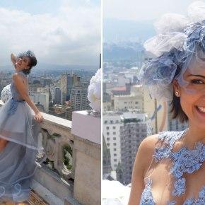 O vestido de noiva azul de Patrícia (Maria Casadevall) em Amor àVida