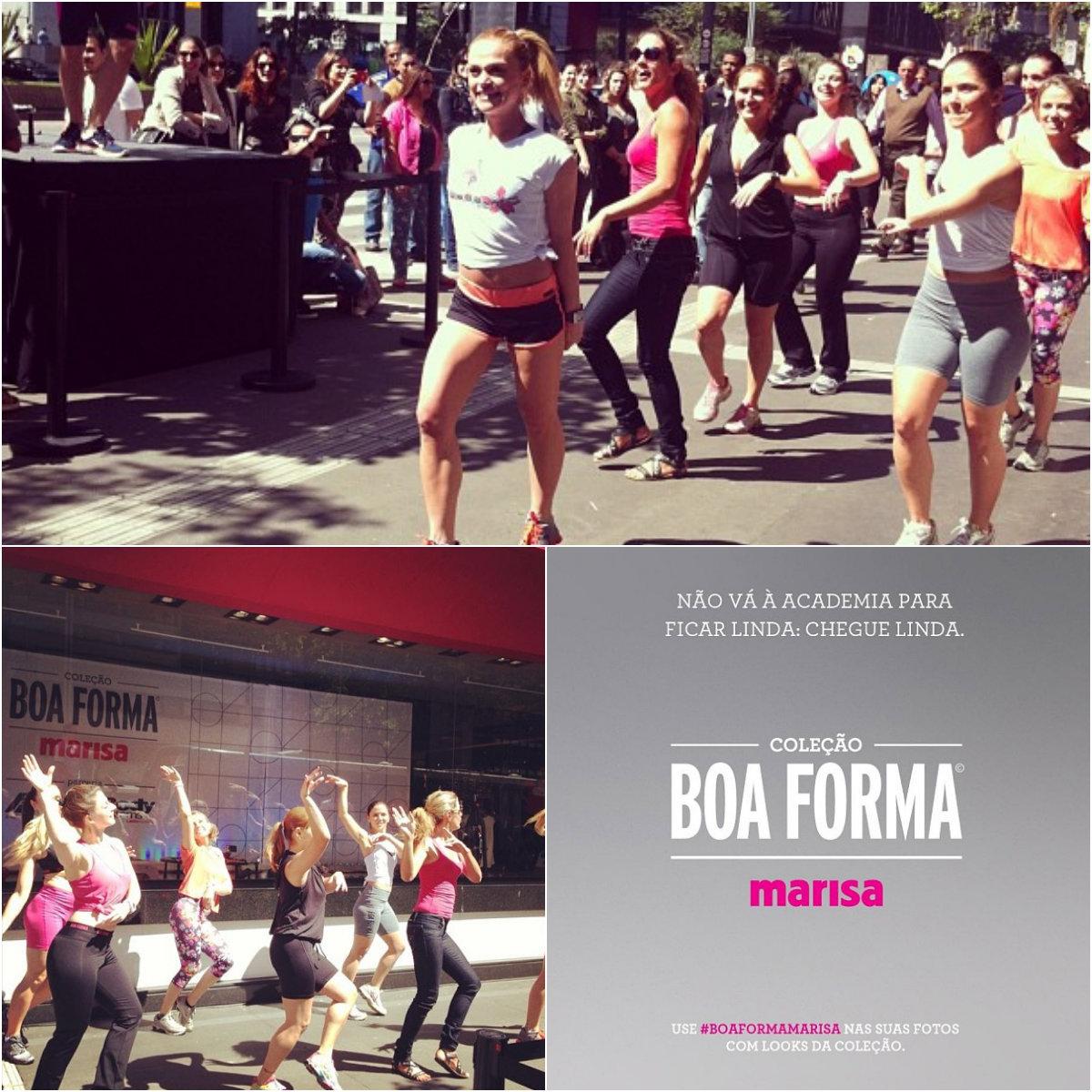 """ec7028230 """"O objetivo deste lançamento é unir as marcas BOA FORMA e Marisa para levar  à cliente preocupada com a saúde e o corpo roupas de qualidade"""