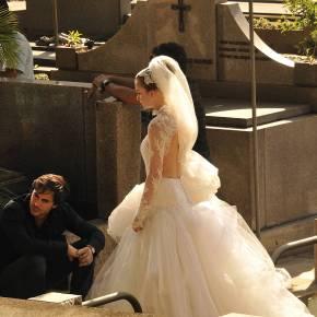 O vestido de noiva de Nicole em Amor àVida