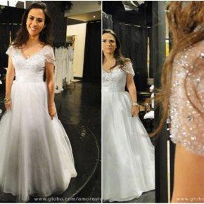O vestido de noiva de Valdirene em Amor àVida