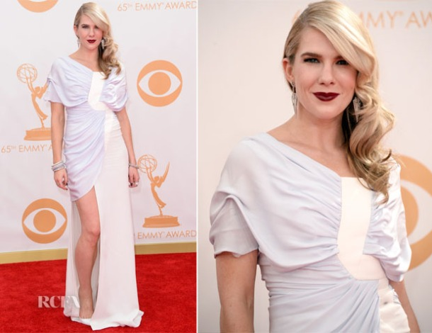 Lily-Rabe-In-Vionnet-2013-Emmy-Awards