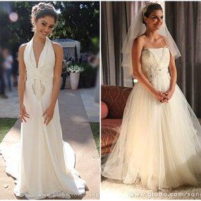 O vestido de noiva de Amora eCharlene