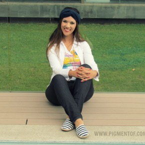 Look: Turbante + Alpargatas Navy