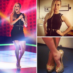 Look de Claudia Leitte no The Voice Brasil de 17/out